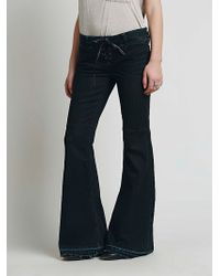 Free People Wanderer Lace Up Flare - Lyst