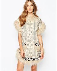 Anna Sui | Mongolian Faux Fur Dress | Lyst