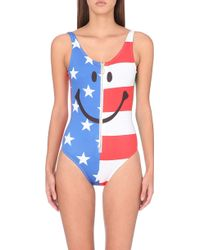 Moschino Flag Smile Swimsuit - For Women - Lyst