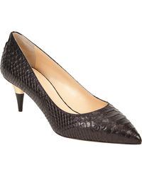 Giuseppe Zanotti Snakestamped Leather Pump - Lyst