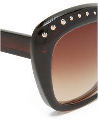 Oscar de la Renta | Crystal Brow Sunglasses | Lyst