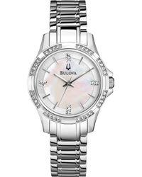 Bulova Women'S Stainless Steel Bracelet Watch 30Mm 96L191 - A Macy'S Exclusive - Lyst