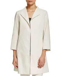 Eileen Fisher | Open Front A-line Jacket | Lyst