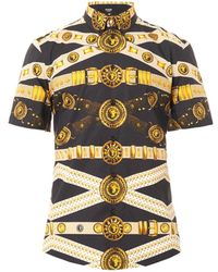 Versus  Shortsleeved Strapprint Shirt - Lyst
