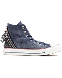 Converse Chuck Taylor Triple Zip Hightop Sneakers - Lyst