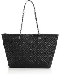 Tory Burch Marion Small Quilted Tote - Lyst