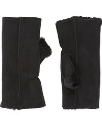 Barneys New York Shearlinglined Fingerless Gloves - Lyst