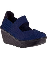 Bernie Mev Lulia Wedge Navy Fabric - Lyst