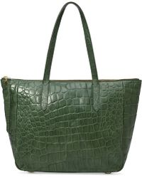 Fossil Sydney Croco Leather Shopper - Lyst
