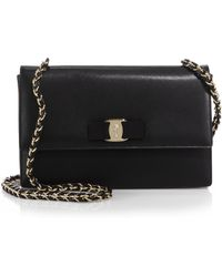 Ferragamo | Vara Ginny Medium Saffiano Leather Shoulder Bag | Lyst