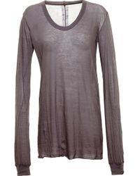 Rick Owens Long T-Shirt - Lyst