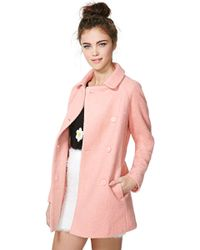 Nasty Gal Charlene Wool Coat - Lyst
