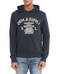Denim & Supply Ralph Lauren Navy Ds Hoody - Lyst