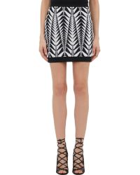 Balmain - Tribal Jacquard Mini Skirt - Lyst