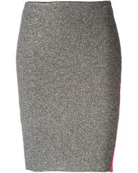 Nude - Contrast Front and Back Knit Skirt - Lyst
