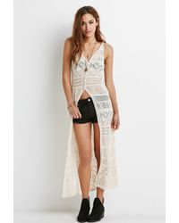 Forever 21 Pointelle Knit Maxi Dress - Lyst