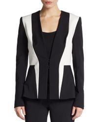 Yigal Azrouel Bicolored Stretch-knit Jacket - Lyst