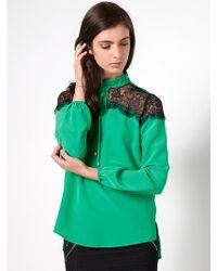 Patrizia Pepe Silk Satin Shirt - Lyst