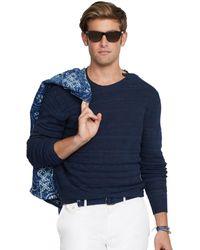 Polo Ralph Lauren Blue Buttoned-shoulder Sweater - Lyst