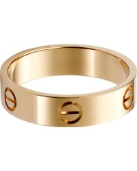 Cartier Love 18Ct Pink-Gold Ring - Lyst