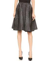 Giambattista Valli Leopard Jacquard Skirt Black Print - Lyst