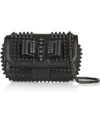 Christian Louboutin Sweet Charity Studded Leather Shoulder Bag - Lyst