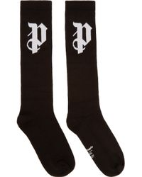 Palm Angels - Black Logo Socks - Lyst