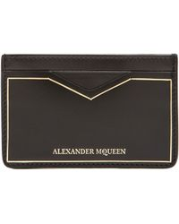 Alexander McQueen Black Card Holder - Lyst