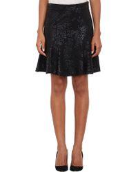 Barneys New York Leopardprint Flare Skirt - Lyst