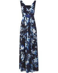 Jacques Vert Dark Tropical Print Maxi Dress - Lyst