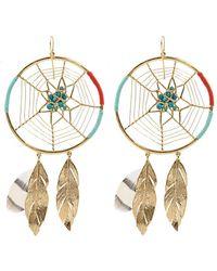 Aurelie Bidermann Dreamcatcher Gold-plated Earrings - Lyst