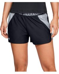 e5e30df3c Lyst - Under Armour Women's Ua Challenger Ii Knit Shorts in Black