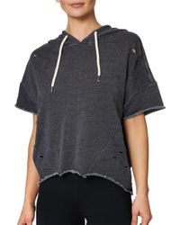 Lorna Jane - Etsey Johnson Distressed Short Sleeve Hoodie - Lyst