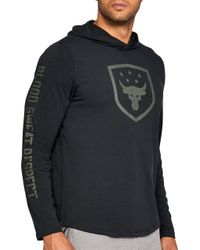 Under Armour - Project Rock Troops Hoodie - Lyst