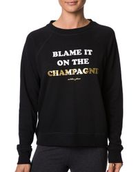 Lorna Jane - Etsey Johnson Blame Champagne Fleece Brushed Pullover - Lyst