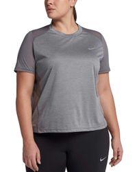 Nike - Plus Size Miler Running T-shirt - Lyst