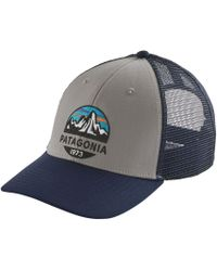 42945fba2da Lyst - Patagonia Fitz Roy Emblem Lopro Trucker Hat in Gray for Men