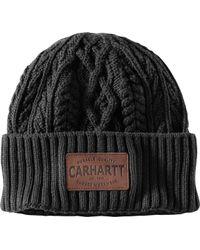 129268a637279 Lyst - Carhartt Logo Beanie in Black