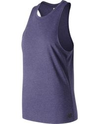 eafe86a0a40ae New Balance 24/7 Sport Layered Tank Top (for Women) in White - Lyst