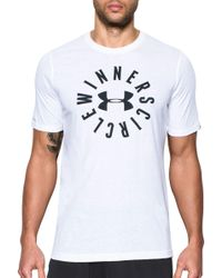 Lyst Under Armour Usa Flag Graphic T Shirt In White For Men