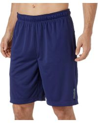 Reebok - Extended Size Solid Performance Shorts - Lyst