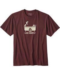 Patagonia - Live Simply Hot Tub T-shirt - Lyst