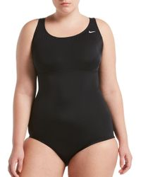 85c2dbebb2 Nike - Plus Size Solid Epic Racerback One Piece Swimsuit - Lyst