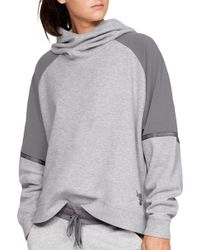Under Armour - Project Rock Knit Oversized Hoodie - Lyst