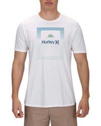 60d1af561c16 Hurley Tear Horizon T-shirt in Purple for Men - Lyst