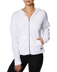 Betsey Johnson - Zip-front Distressed Hoodie - Lyst