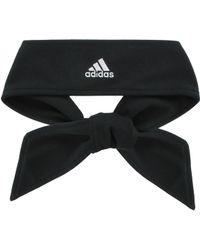 adidas - Solid Tie Headband - Lyst