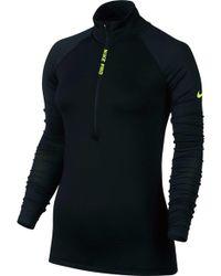 Nike | Pro Hyperwarm Long Sleeve 1/2 Zip Shirt | Lyst