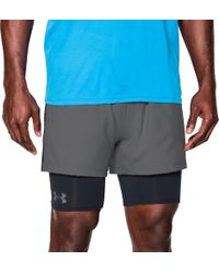 Under Armour - Mirage Two-in-one Training Shorts - Lyst
