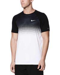 Nike - Fade Mist Short Sleeve Hydro Rash Guard - Lyst